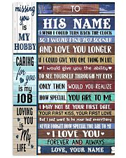To My Husband From Wife 11x17 Poster front