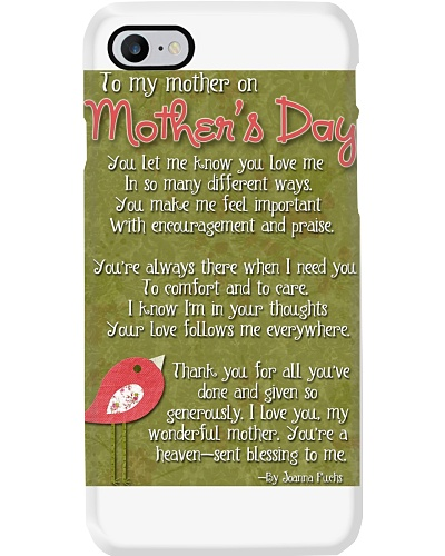 TO MY MOTHER ON MOTHER'S DAY
