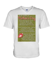 TO MY MOTHER ON MOTHER'S DAY V-Neck T-Shirt thumbnail