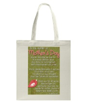 TO MY MOTHER ON MOTHER'S DAY Tote Bag thumbnail
