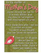 TO MY MOTHER ON MOTHER'S DAY 16x24 Poster front