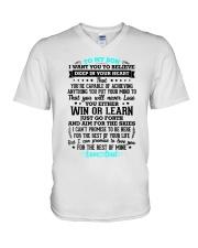 TO MY SON V-Neck T-Shirt thumbnail