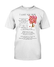 I LOVE YOU MUM Classic T-Shirt thumbnail
