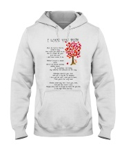 I LOVE YOU MUM Hooded Sweatshirt thumbnail