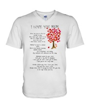 I LOVE YOU MUM V-Neck T-Shirt thumbnail