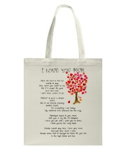 I LOVE YOU MUM Tote Bag thumbnail