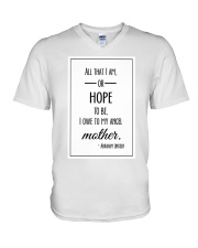 ALL THAT I AM OR HOPE TO BE I OWE TO MY ANGEL V-Neck T-Shirt thumbnail