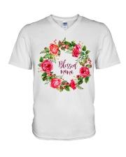 BLESSED MAMA V-Neck T-Shirt thumbnail
