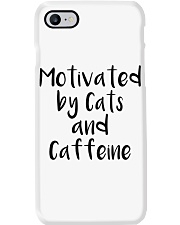 MOTIVATED BY CATS AND CATTEINE Phone Case thumbnail