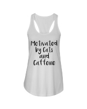 MOTIVATED BY CATS AND CATTEINE Ladies Flowy Tank thumbnail