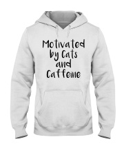 MOTIVATED BY CATS AND CATTEINE Hooded Sweatshirt thumbnail