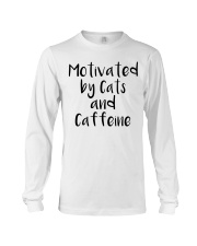 MOTIVATED BY CATS AND CATTEINE Long Sleeve Tee thumbnail