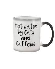 MOTIVATED BY CATS AND CATTEINE Color Changing Mug thumbnail