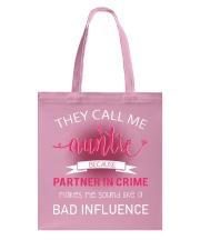 THEY CALL ME AUNTIE  Tote Bag front