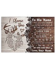 To My Husband From Wife 17x11 Poster front