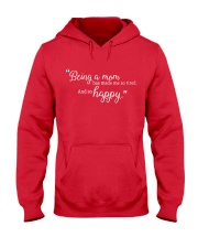 BEING A MOM Hooded Sweatshirt front