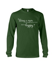 BEING A MOM Long Sleeve Tee front