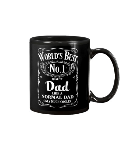 WORD'S BEST DAD LIKE A NORMAL DAD ONLY MUCH COOLER