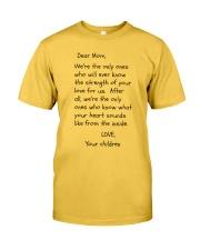 DEAR MOM Classic T-Shirt front