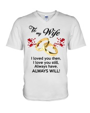 To My Wife I Love You  V-Neck T-Shirt tile