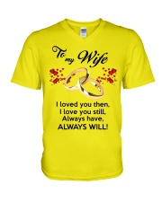 To My Wife I Love You  V-Neck T-Shirt front