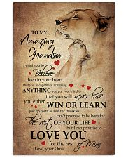 To My Grandson From Grandma 11x17 Poster front