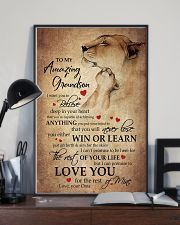 To My Grandson From Grandma 11x17 Poster lifestyle-poster-2