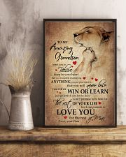 To My Grandson From Grandma 11x17 Poster lifestyle-poster-3