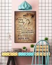 To My Grandson From Grandma 11x17 Poster lifestyle-poster-6