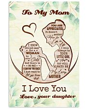 To My Mom From Daughter 11x17 Poster front