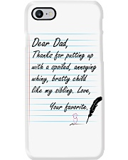 DEAR DAD THANKS FOR LOVEING ME Phone Case thumbnail