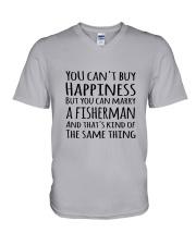 FISHING HAPPINESS V-Neck T-Shirt thumbnail
