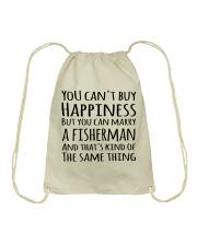 FISHING HAPPINESS Drawstring Bag thumbnail