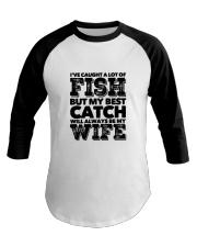 FISHING WIFE Baseball Tee thumbnail