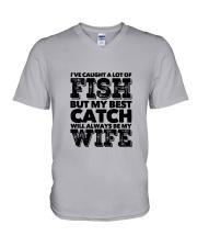 FISHING WIFE V-Neck T-Shirt thumbnail