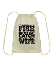 FISHING WIFE Drawstring Bag thumbnail