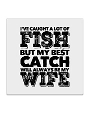 FISHING WIFE Square Coaster thumbnail
