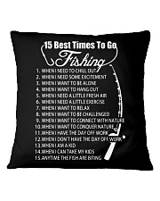 15 BEST TIMES TO GO FISHING Square Pillowcase thumbnail