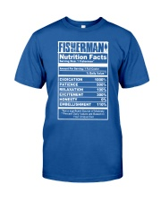 FISHERMAN NUTRITION FACTS Classic T-Shirt front