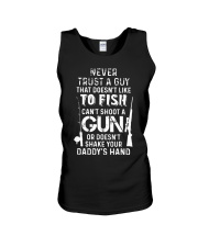 NEVER TRUST A GUY Unisex Tank tile