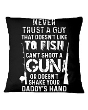 NEVER TRUST A GUY Square Pillowcase thumbnail