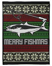 "MERRY FISHMAS Small Fleece Blanket - 30"" x 40"" thumbnail"