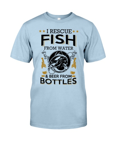I RESCUE FISH FROM WATER AND BEER FROM BOTTLES