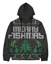 MERRY FISHMAS Men's All Over Print Full Zip Hoodie front