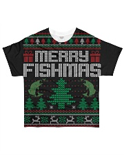 MERRY FISHMAS All-over T-Shirt thumbnail