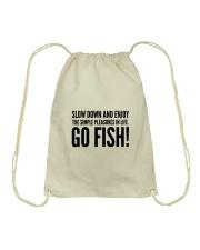 FISHING PLEASURES Drawstring Bag thumbnail