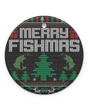 MERRY FISHMAS Circle ornament - single (porcelain) thumbnail