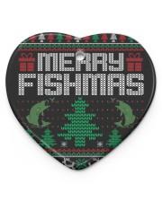 MERRY FISHMAS Heart ornament - single (porcelain) thumbnail