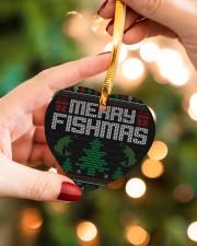 MERRY FISHMAS Heart ornament - single (wood) aos-heart-ornament-single-wood-lifestyles-09