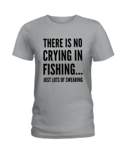 FISHING CRYING Ladies T-Shirt thumbnail